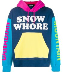 dsquared2 snow whore hoodie - blue