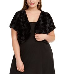 bcx trendy plus size faux-fur shrug