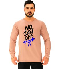 camiseta manga longa moletinho alto conceito sem dias de descanso rosa  - kanui