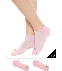 medias  rosa  puma  sneaker 2p