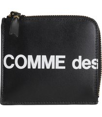 comme des garcons wallet small black hl wallet