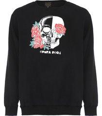 moletom flanelado fechado opera rock skull preto - preto - masculino - algodã£o - dafiti