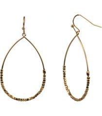 style & co gold-tone beaded teardrop drop earrings, created for macy's