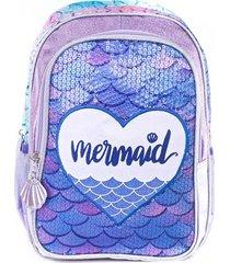 mochila violeta kooshi mermaid