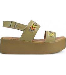 sandalia de cuero beige vemmas yadia