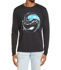 men's bp. men's down to earth long sleeve graphic tee, size large - black