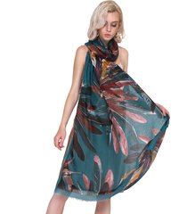 sciarpa oversize da donna traspirante in lino traspirante in cotone vintage vogue 180 * 90cm