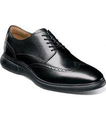 zapato flair wingtip oxford negro florsheim