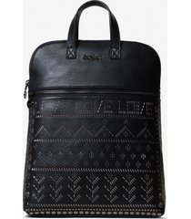 backpack with metal rivets - black - u
