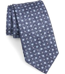 men's david donahue floral silk tie