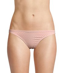 perforated bikini bottom
