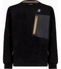 le vrai augustine sweatshirt color black