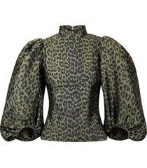 blouse crispy jacquard