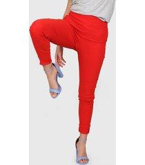 pantalón rojo montjuic milos