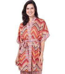 robe cetim homewear estampado - 589.0722 marcyn lingerie pijamas multicolorido