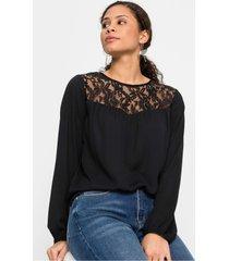 blouse met kanten pas