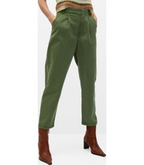 cotton pleated pants