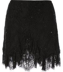 macgraw stone love skirt - black