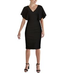 kenzie cape-sleeve dress
