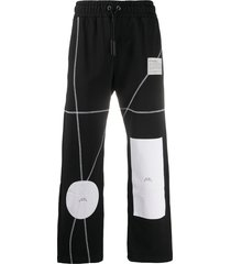 a-cold-wall* patchwork-print drawstring trousers - black