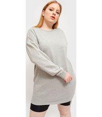 vestido missguided oversized sweater dress gris - calce oversize