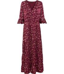 abito lungo con glitter (rosso) - bodyflirt