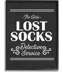 "stupell industries olde lost socks detective service framed giclee art, 11"" x 14"""
