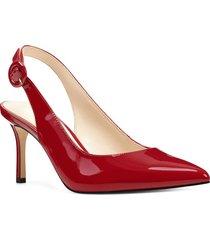 zapato de tacón nine west mabry - rojo