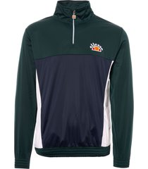 ellesse vetica quarter zip track top - dark green shy05328-grn