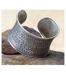 silver cuff bracelet, 'fascination' (thailand)