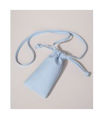 bolsa feminina porta celular com tira de ajuste azul