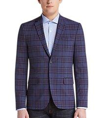 ben sherman blue plaid extreme slim fit sport coat