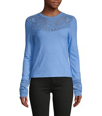 colette pointelle ribbed sweater