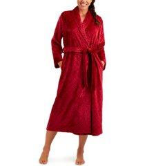 charter club long diamond cozy robe, created for macy's