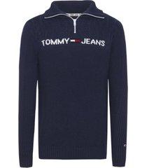 buzo textured mock azul tommy jeans