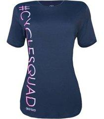 camiseta alto giro feminina skin fit cycle squad - feminino