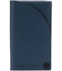troubadour business card holder - blue