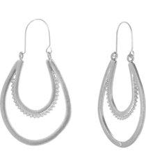 the sak silver-tone u shape hoop earrings