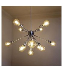lustre moderno sputnik escovado - 13 lâmpadas náo inclusas