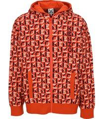 kenzo kenzo sport monogram jacquard jacket