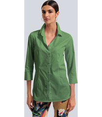 blouse alba moda groen