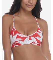 body glove printed tropix vibe alani ribbed swim top women's swimsuit