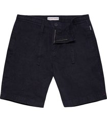 orlebar brown harton linen shorts - navy 26904630