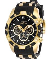 reloj invicta dorado negro modelo 258ce para hombres, colección speedway
