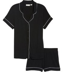 women's nordstrom lingerie moonlight short pajamas, size xx-large - black