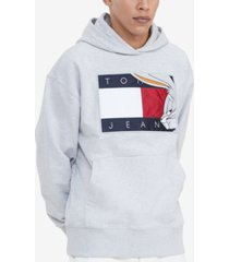tommy hilfiger men's space jam: a new legacy x tommy jeans tommy jeans looney tunes flag popover hoodie