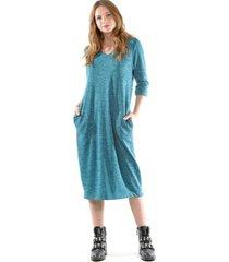 vestido lanilla turquesa bous