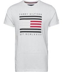 corp flag lines tee t-shirts short-sleeved vit tommy hilfiger