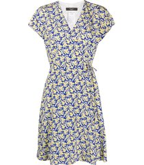 weekend max mara printed tea dress - blue