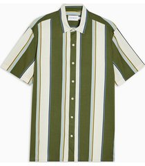 mens considered khaki vertical stripe slim shirt